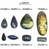 Cabochon Labradorit 24-73 x 12-39 x 6-9 mm - Unicat